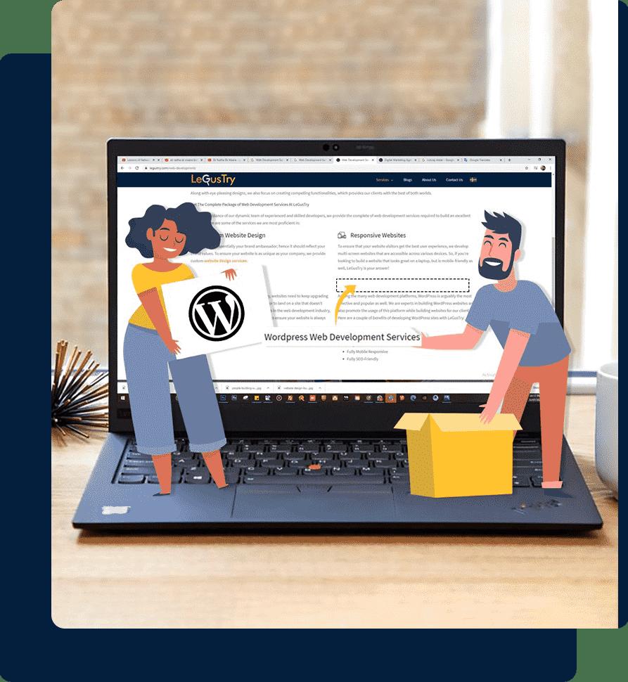 Wordpress Web Development Services By LeGusTry